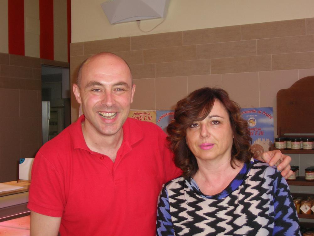 Enrico Conti con la Signora Angela Ciolini